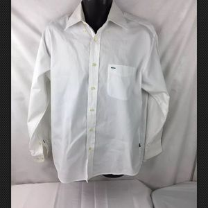 Tommy Hilfiger 80's 2 Ply Fabric Dress Shirt Sz M